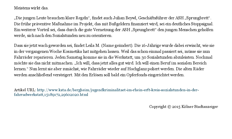 Kölner Stadt-Anzeiger- Sozialstunden in der Fahrradwerkstatt-002