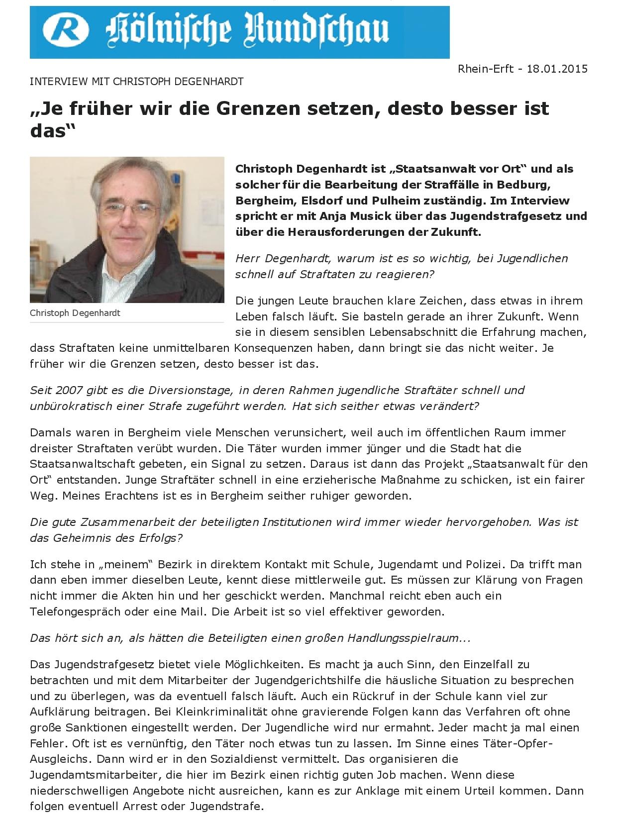 """Kölnische Rundschau- """"Je früher wir die Grenzen setzen, desto besser ist das""""-001"""