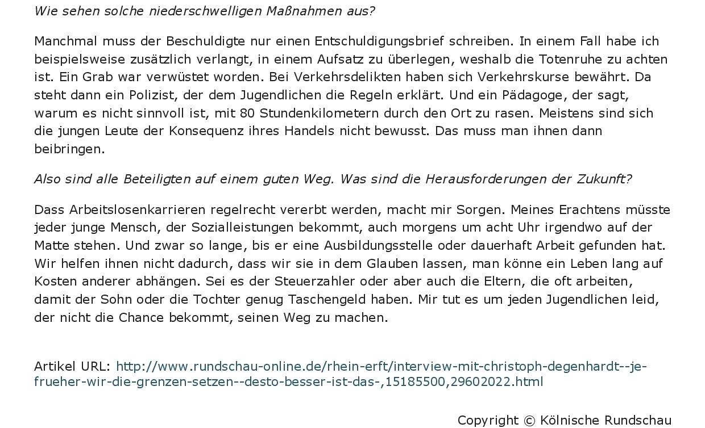 """Kölnische Rundschau- """"Je früher wir die Grenzen setzen, desto besser ist das""""-002"""