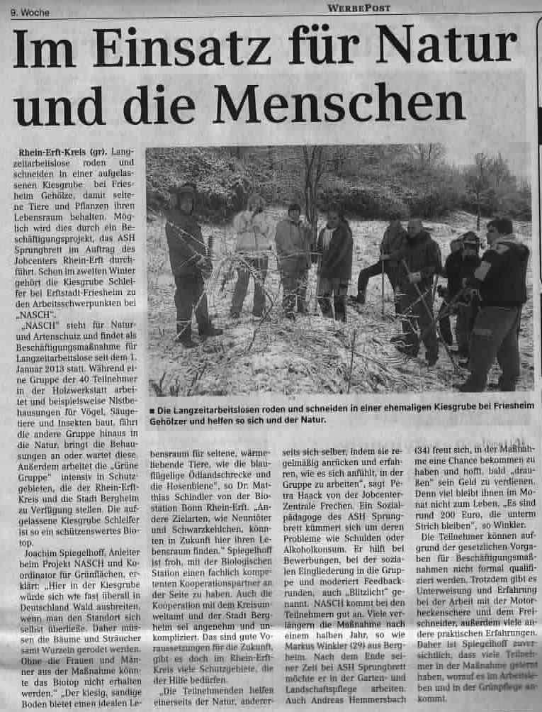 NASch - Im Einsatz für Natur und Menschen - 25.02.15